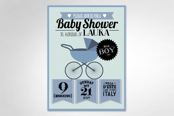 Baby Shower Boy Template
