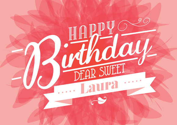 Birthday Template Vector