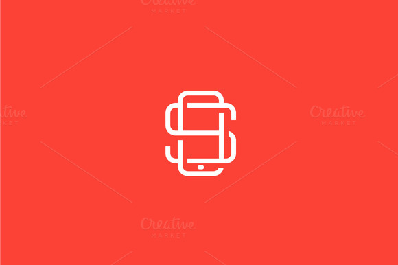 Letter S Smartphone Logo