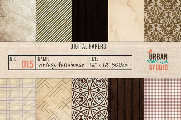 Vintage Farmhouse Scrapbook Papers