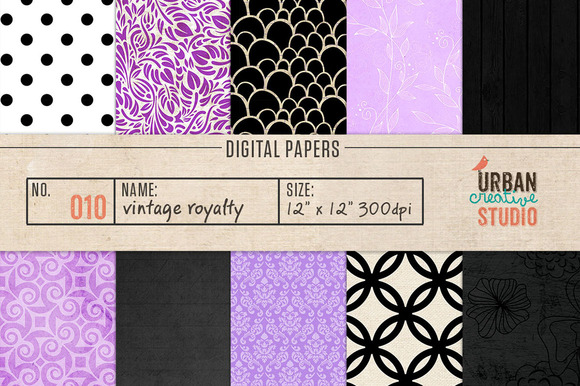 Vintage Royalty Background Papers