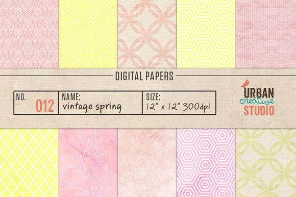 Vintage Spring Digital Papers