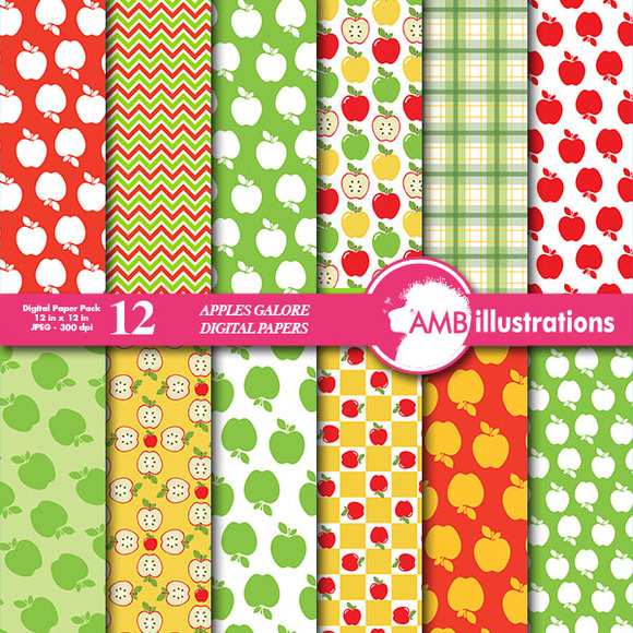 Apples Galore Digital Papers 136