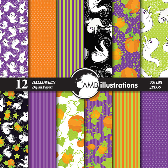 Wispy Ghost Digital Papers 143