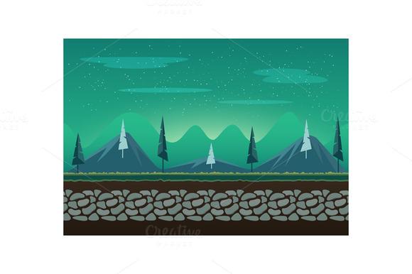 Seamless Landscape For Game Backgrou