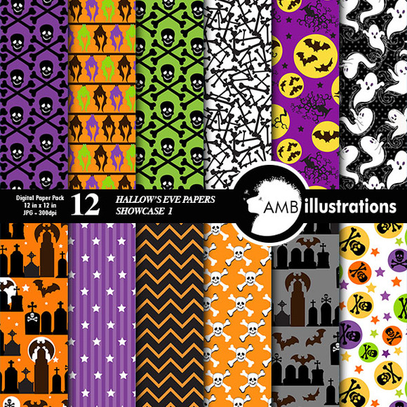 Hallows Eve Digital Papers 150