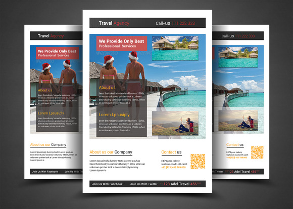 Holiday Travel Tour Flyer Template