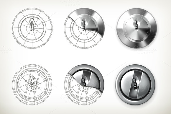 Keyhole Vector Icons