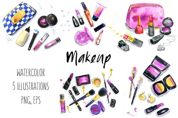 Makeup Cosmetics Illustrations