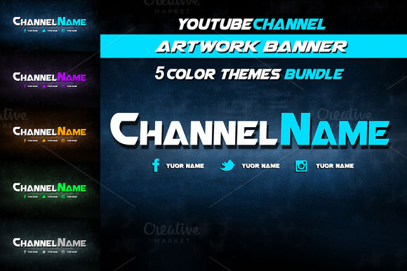 Youtube Channel Banner Bundle