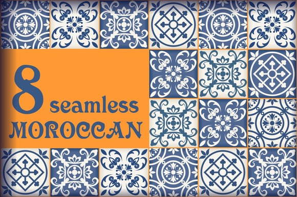 8 Seamless Moroccan Tile Pattern