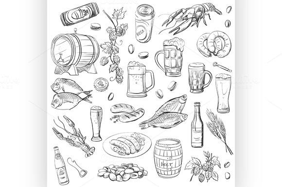 Beer Hand Drawing Set