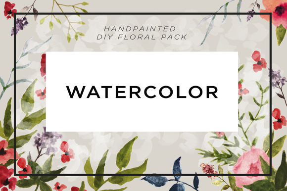 Watercolor Floral DIY Package