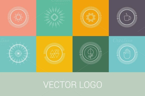 Vector Line Logos And Icons