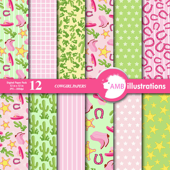 Cowgirl Digital Papers 164