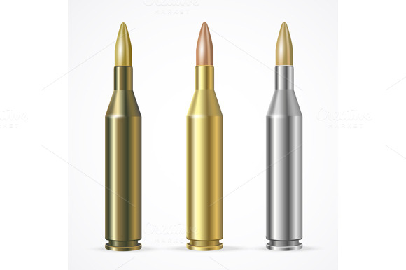 Vector Rifle And Pistol Bullet Set