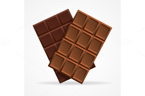 Vector Dark And Milk Chocolate Bar