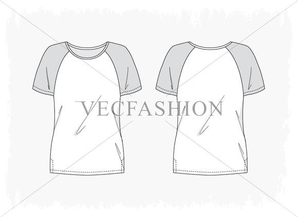 Woman Fitness Raglan Sleeve Shirt