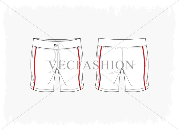 Woman Fitness Sport Shorts Vector