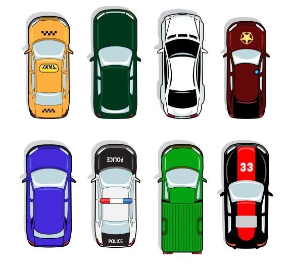 Police Car Taxi Sports Sedan Icons