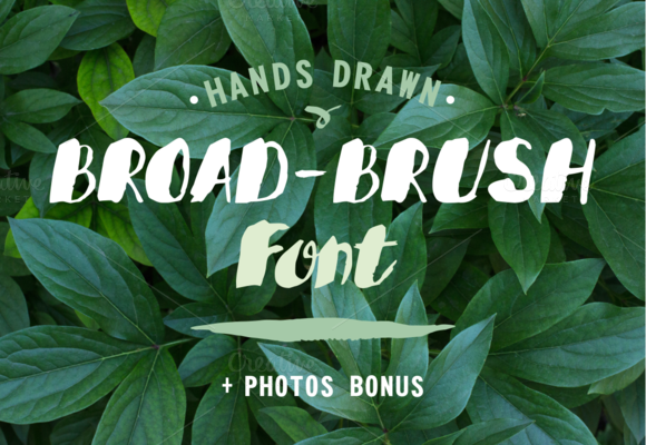 BROAD-BRUSH Font