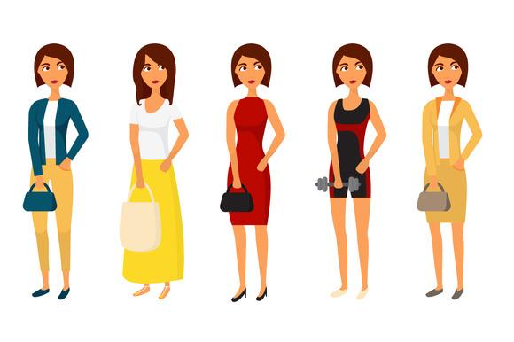 Woman Character Set