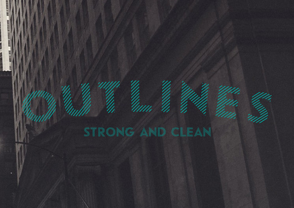 Outlines Typeface