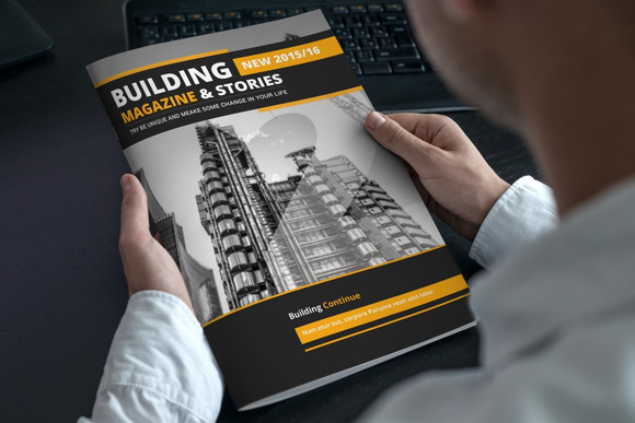 Building Magazine Template
