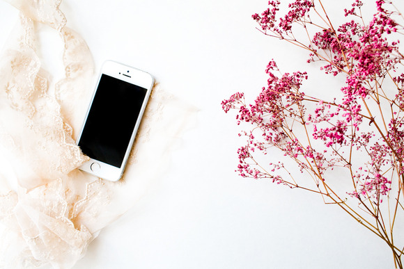 Styled Stock Photo Lace Iphone