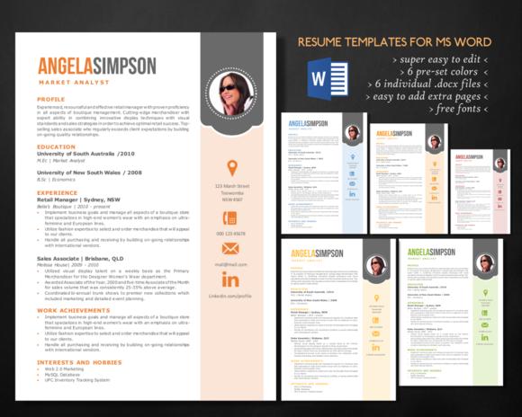 Stylish resume designtube creative design content for Free stylish resume templates