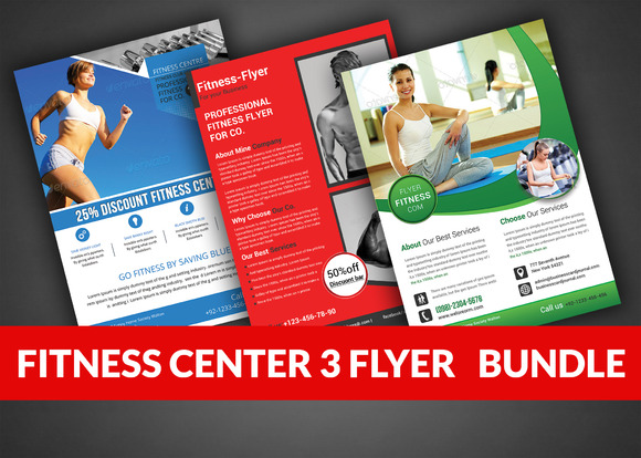 Health Sports Fitness Flyer Bundle