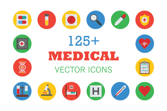 125 Medical Vector Icons