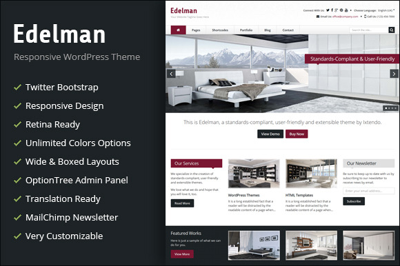 Edelman Responsive WordPress Theme