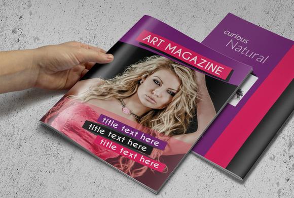 Fashion Magazine Or Brochure
