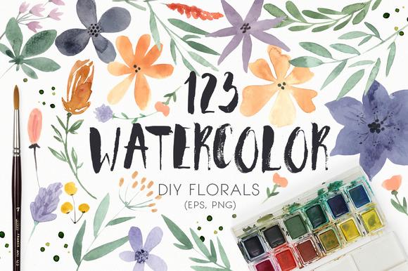 123 DIY Watercolor Flowers