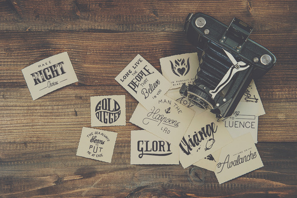 26 Vector Hand Lettering Stamps