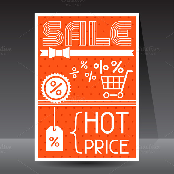 Sale And Shopping Advertising Flyers