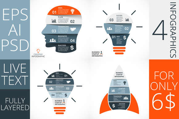 Startup Business Infographics Set