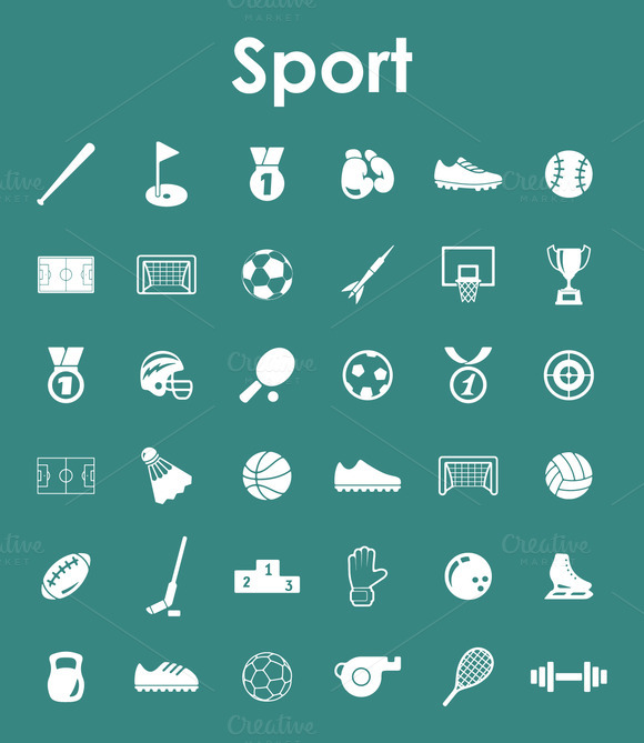 36 SPORT Simple Icons