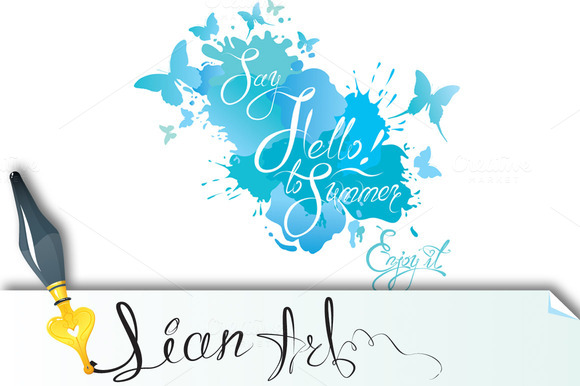Holidays Card With Calligraphic Text
