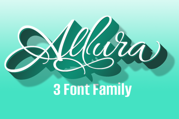 Allura 3 Font Package 30% Off