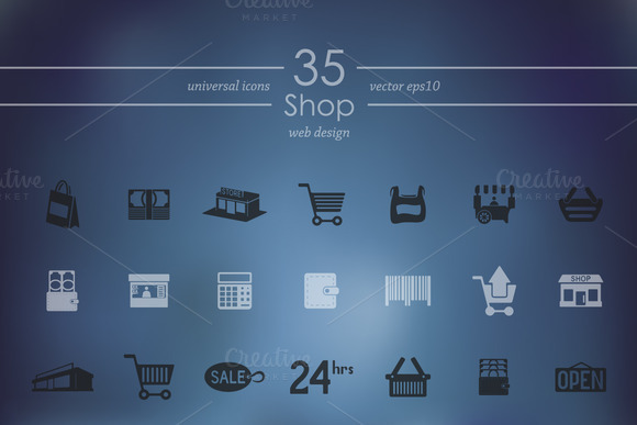 Set Of Shop Icons