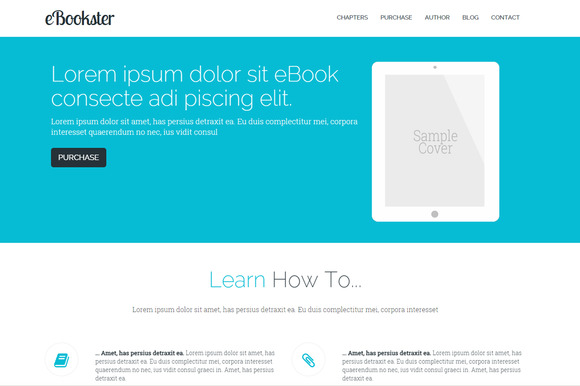 EBook Responsive Animated Template