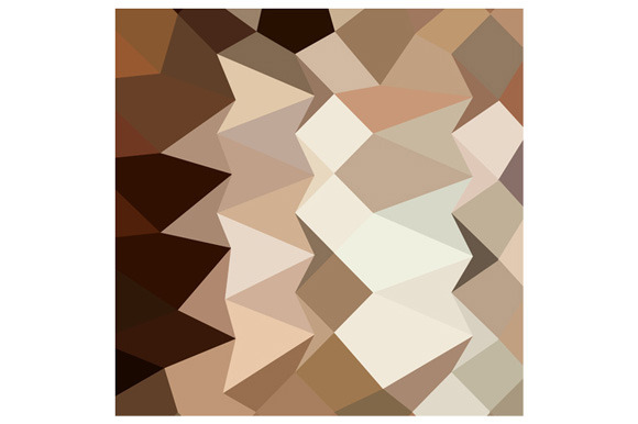 Burlywood Brown Abstract Low Polygon