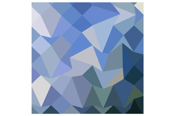 Carolina Blue Abstract Low Polygon B