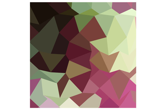 Claret Red Abstract Low Polygon Back