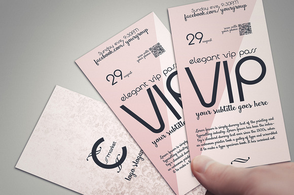 Pink Dream Two-sided VIP PASS Card