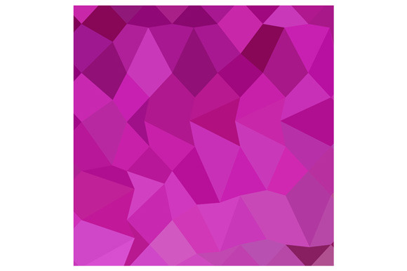 Persian Rose Pink Abstract Low Polyg
