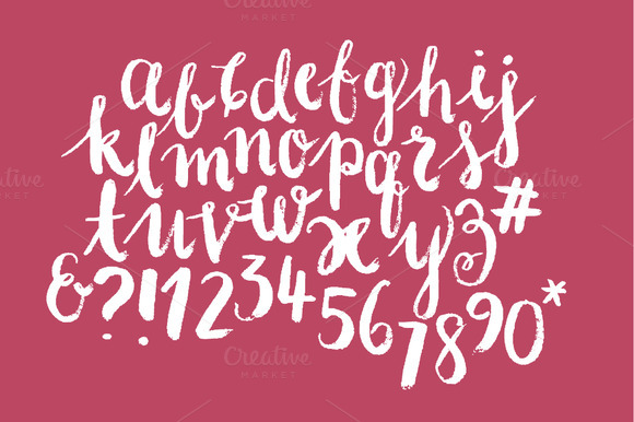 Modern Calligraphy Typography Vector