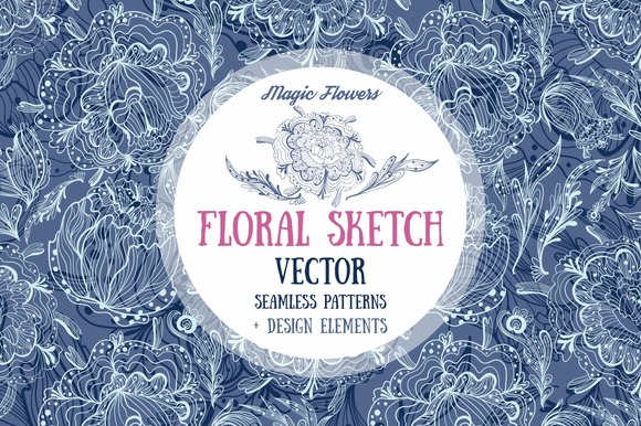 Floral Sketch Seamless Textures